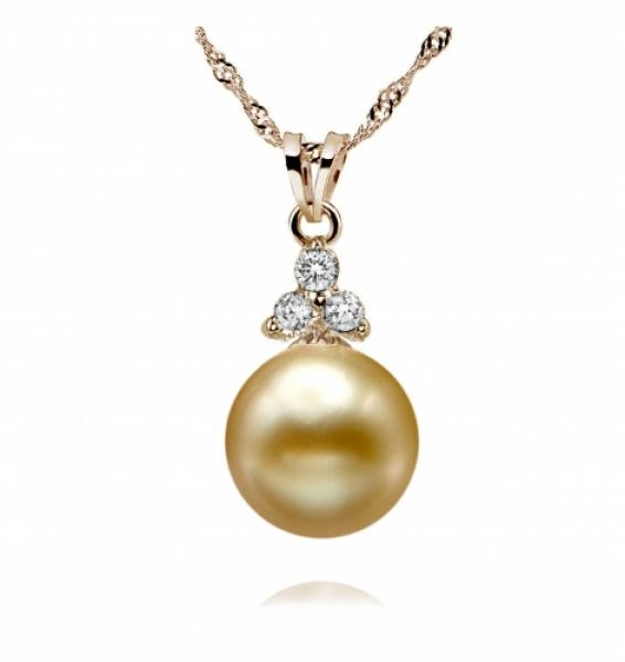 South Sea Pearl Pendant 9-11mm Golden AA+/AAA-Eternity