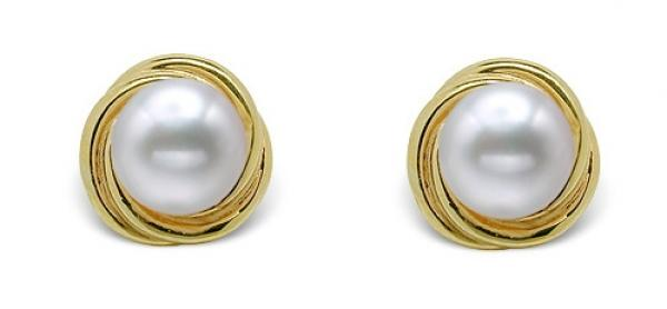 Freshwater Pearl Earrings Stud 9.0-11.0mm Innocent