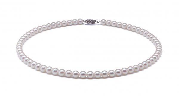 Akoya Pearl Necklace 6.5-7.0mm White AA+ Quality