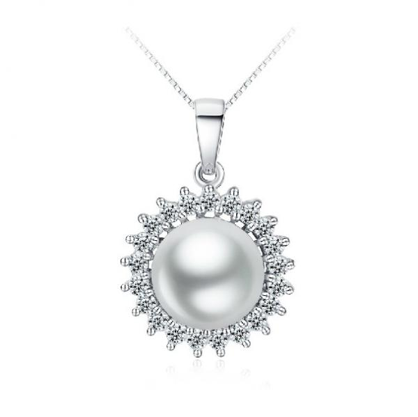 Freshwater Pearl Pendant 9-10mm Sunflower