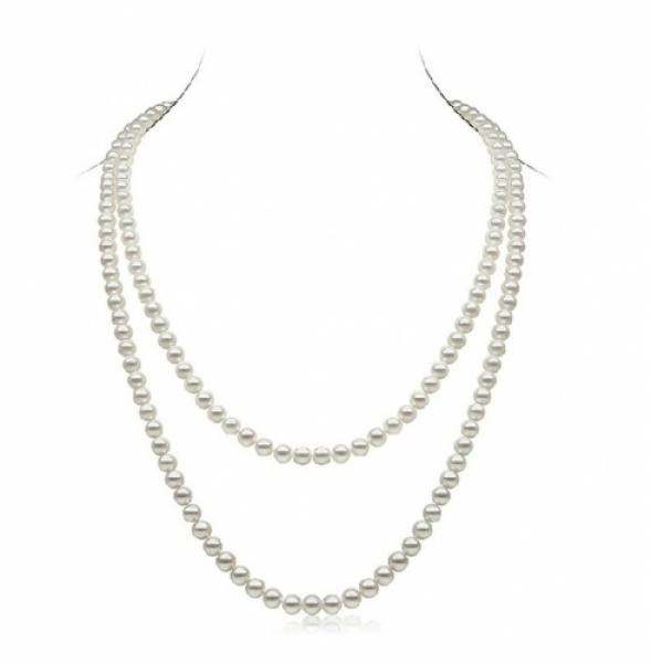 Freshwater Pearl Necklace 6.0-7.0mm White 51 inch