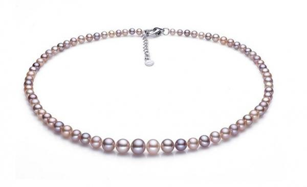 Freshwater Pearl Necklace 4.0-9.0mm Metallic AAA Quality