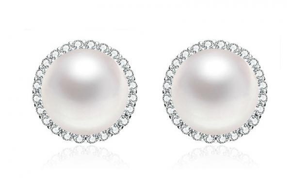 Freshwater Pearl Earring Stud 10.0-11.0mm Quality-Galaxy
