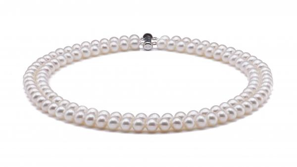 Freshwater Pearl Necklaces 6.0-7.0mm White Double Strand