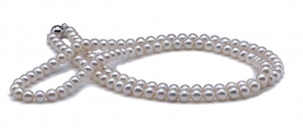 Freshwater Pearl Necklace 6.0-7.0mm White in Opera