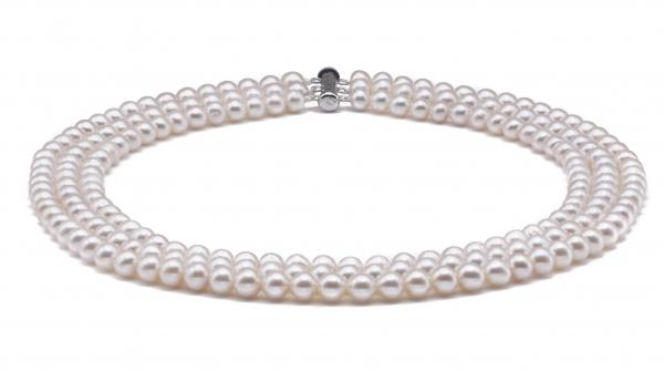 Freshwater Pearl Necklace 6.0-7.0mm White Triple Strand
