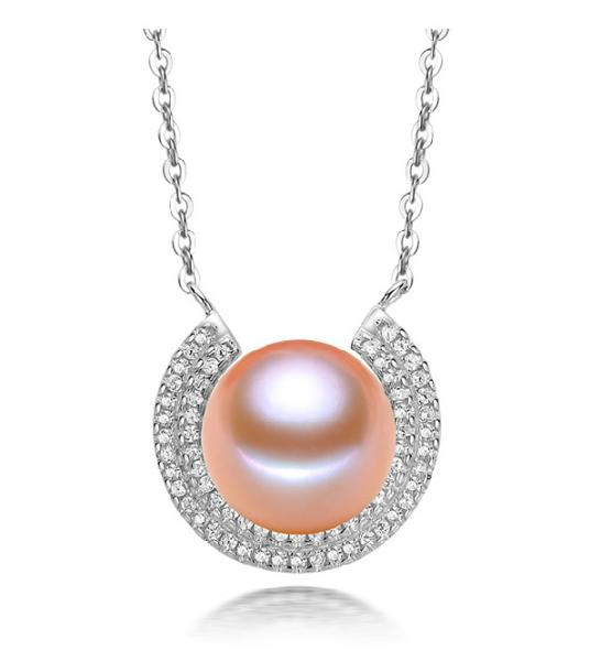 Freshwater Pearl Pendant  10-11mm -Moon