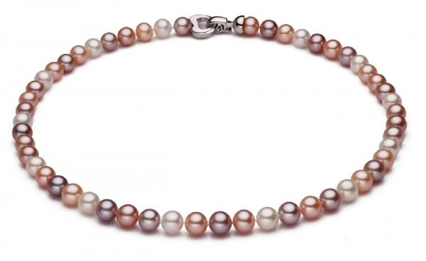 Freshwater Pearl Necklace 7.5-8.5mm Metallic Color AAA Quality