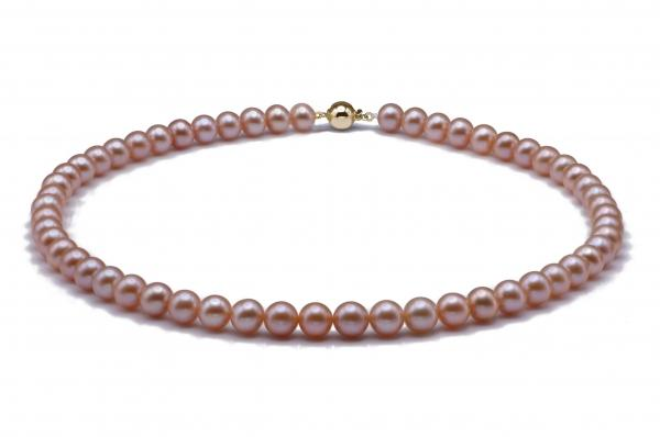 Freshwater Pearl Necklace 7.5-8.5mm Pink AAA Quality