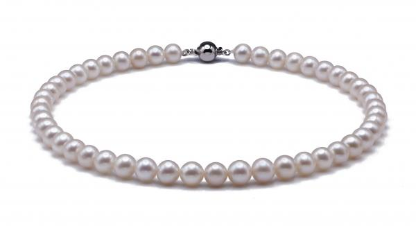 Freshwater Pearl Necklace 7.5-8.5mm White AAA Quality