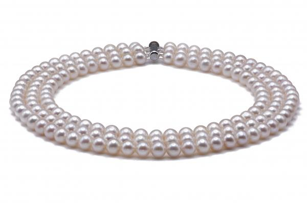 Freshwater Pearl Necklace 7.5-8.5mm Triple Strand