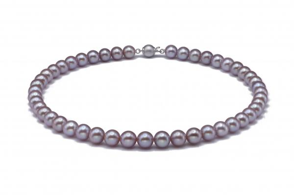 Freshwater Pearl Necklace 8.5-9.5mm Lavender AAA Quality