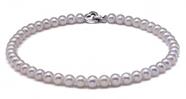 Freshwater Pearl Necklace 9.5-10.5mm White AAA Quality