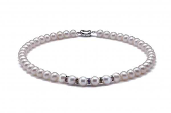 Freshwater Pearl Necklace 9.5-10.5mm White AAA Decorating Stone