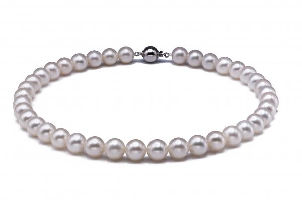 Freshwater Pearl Necklace 10.5-11.5 mm White