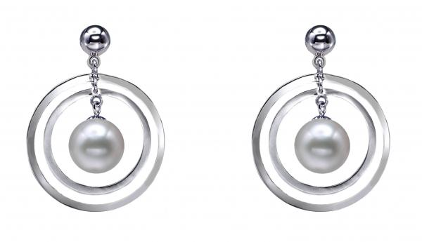 Freshwater Pearl Earrings 9.0-11.0mm White Quality
