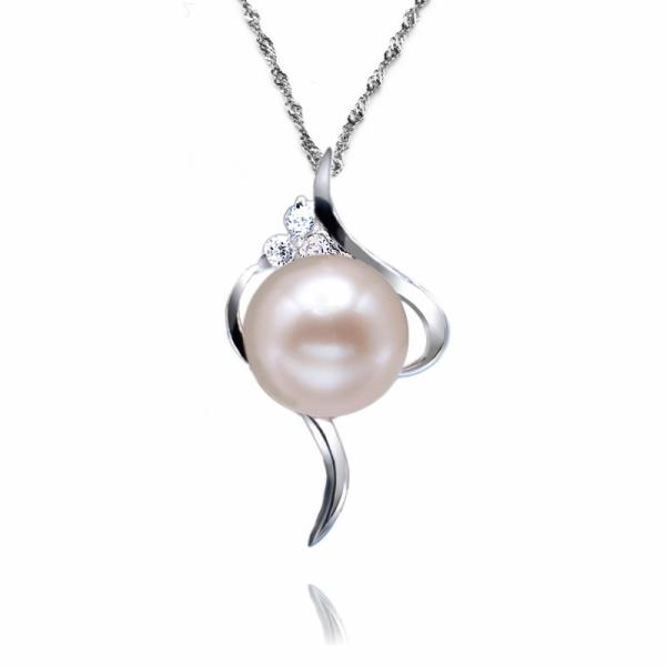 Freshwater Pearl Pendant 8.0-9.0mm White AAA Quality